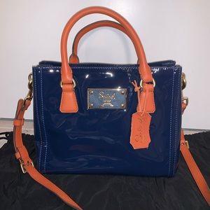 SALAD Dark Blue and Orange Handbag